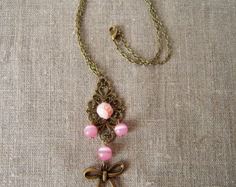 Choker necklace beads and bow