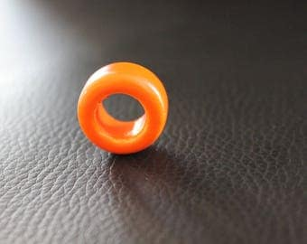 Very large ceramic bead orange