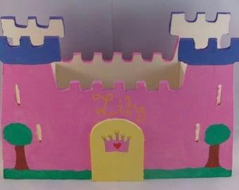 """Pencil holder """"Princess Castle"""" to customize"""