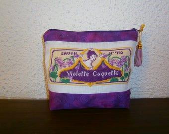 """embroidered """"Violette Coquette"""" cross stitch Kit"""