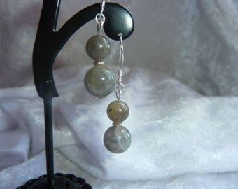 Genuine LABRADORITE earrings