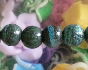 1 bead with silver 8mm diameter hole 1 mm