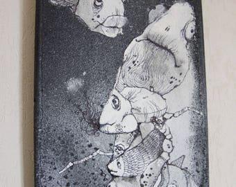 February 2015 challenge - Skate spray - painted in Black Sea