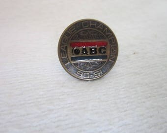 1991 ABC Bowling League Champion Pinback