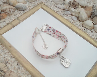 floral liberty charm bracelet with these