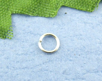 Set of 10 silver matte (A16) 4mm jump rings
