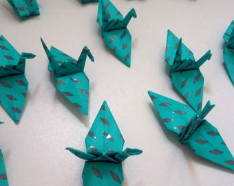 Set of origami cranes: Collection Mint