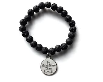 So Much More Than Enough Charm & Lava Bead Diffuser Bracelet