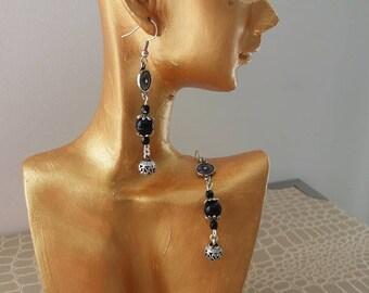 Locket and Pearl Earrings