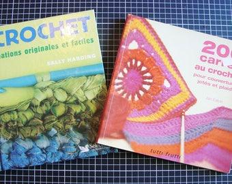 Set of 2 books - crochet - crochet techniques and accessories