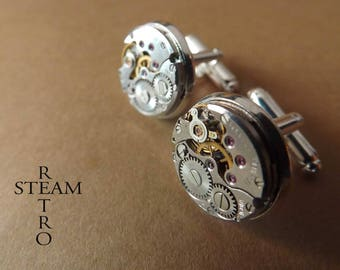Retro Steampunk cufflinks 16mm por man buttons