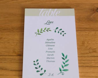 Card - Provence Theme - wedding table Plan