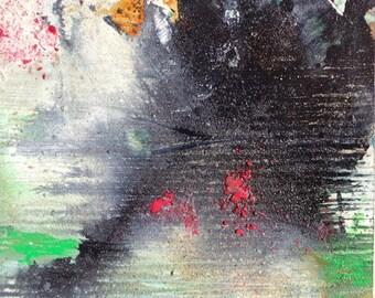 AMAZONIA XVIIII oil on paper painting