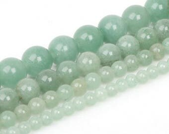 Aventurine green 4 x 20 mm round bead