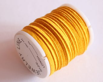 spool of cord 3 mm, special jewelry, yellow dahlia, 3 m