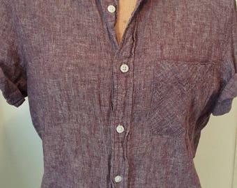 Auburn button up shirt