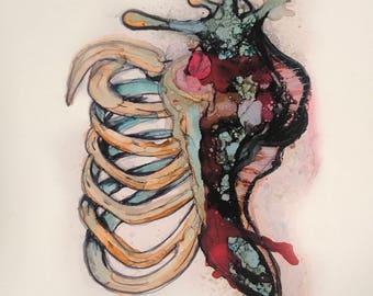 Ribcage snail print