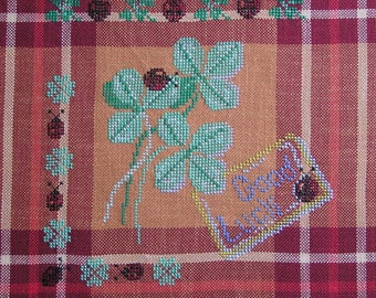 Embroidery 4 leaf clover