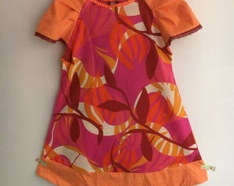 Very light and colorful dress.