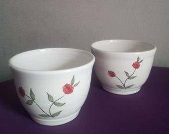 Set of 2 tea bowls / Peony Collection