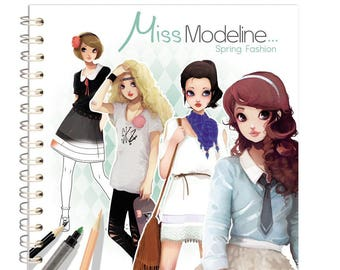 Notebook design 20 x 20 cm - Miss Modeline Spring Fashion - Ref 62155