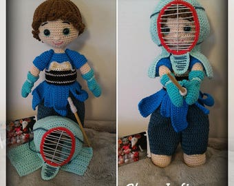 Kenzo doll and her Kendo outfit crochet