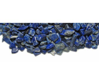 Lapis Lazuli drilled chips beads 36 gr