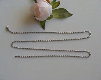 stainless steel 2.4 mm diameter ball chain