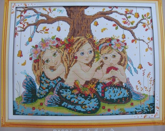 """The 3 sirens"" counted cross stitch Kit"