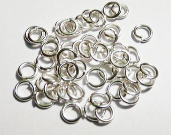 Set of 10 silver ring 4 mm - lead and nickel free