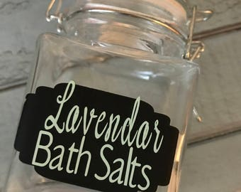 Custom Bath Salt jar