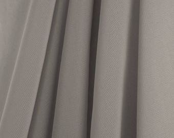"""60"""" Wide - High Quality 100% Polyester Chiffon Sheer Fabric - GRAY"""