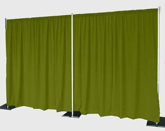 5feet x 8feet AVOCADO Polyester Fabric Backdrop Background Drapes for Pipe and Drape