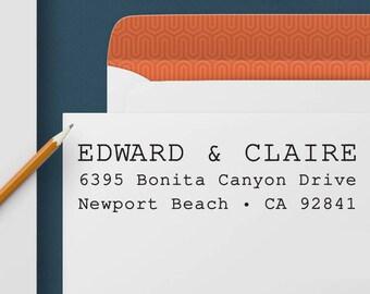 Return Address Stamp 336 - Self Inking Stamp, Custom Address Stamp, Custom Stamp, Personalized Address Stamp, Wedding and Housewarming Gift
