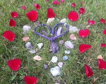 Hemp Wrapped Amethyst Crystal Necklace