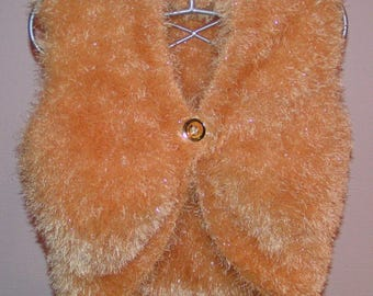 Women size 42/44 clothes: wool bolero gold knit