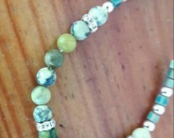Lovely turquoise yellow original bracelet