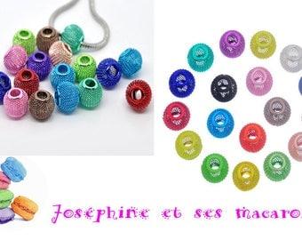 1 TURQUOISE bead metal 14 x 12 mm