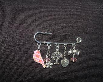 Silver Little bird pin brooch