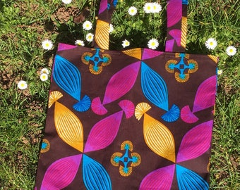 Bag tote bag fabric wax
