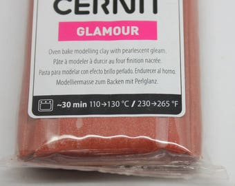 Polymer clay CERNIT GLAMOUR color Brown-56 Gr