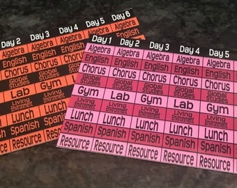 Class Schedule Magnets for Lockers