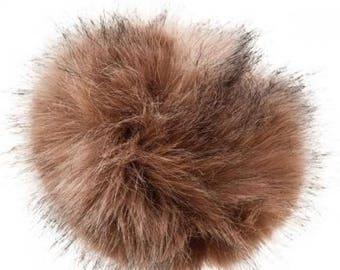 Pompom fake fur, diameter 10cm, galte