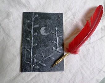 "Medium notebook 56 pages ""dreamy Moon"" silver grey"