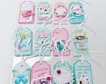 12 tags in 3D stickers label sticker message smile beautiful enjoy flower nature Butterfly dragonfly