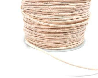 5 meters of pastel pink waxed thread 1 mm thick creating jewelry