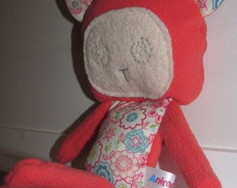 Pink monkey plushie for kids and baby