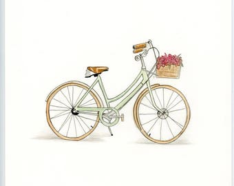 Vintage bicycle painting