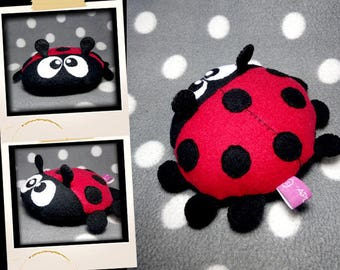 Plush little red and black Ladybug APLUCHES