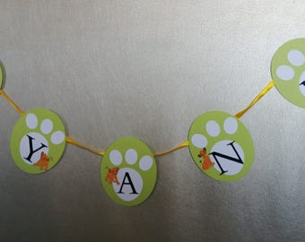 simba or jungle themed personalized banner